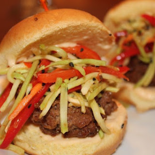 Marvelous Mexi-Asian Beef Sliders with Chili Lime Sriracha Mayo