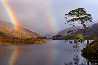 Photo: Double Rainbow Over Loch Eilt  I just discovered that this little island in Loch Eilt was used as a location in two Harry Potter Movies -- The Prisoner of Azkaban and Deathly Hallows Part 1. Apparently, the island is the site of Dumbledore's grave. Cool!  It's been such a busy month. Presentations in London and here in Ohio, planning our workshop in Australia, +Jay Patellosing his job and shifting to photography full time, and so much more... I didn't even get a chance to download my photos from Scotland until today. Ridiculous. But it's always fun to see what I have in my collection after a few weeks, because I'm surprised by what I find. I had nearly forgotten about this double rainbow and beautiful Loch Eilt in the highlands.  We stopped here because of the beautiful little tree-covered island in the middle of the loch. We got out and wandered along a little path for a bit - looking for a nice composition. And then, the light started to go a little nuts... and just when you'd think a place just couldn't be any more beautiful, this gorgeous double rainbow appeared.