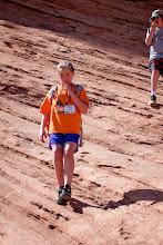 Photo: Students hiking down...