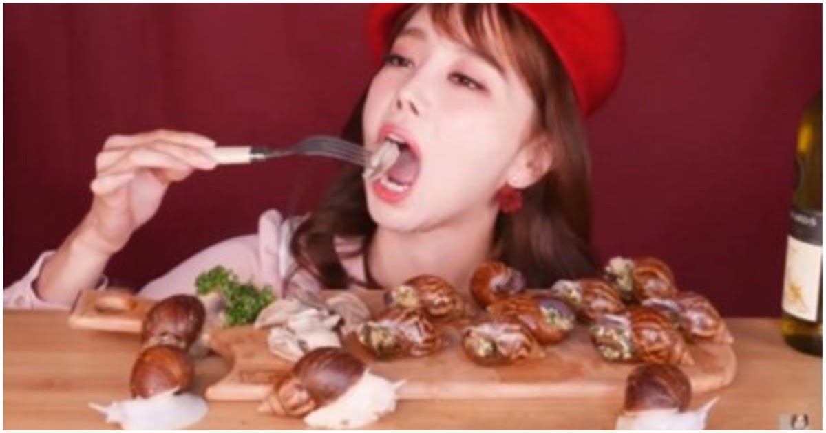 Korean Youtuber Is Under Fire For Eating Escargots In Front Of