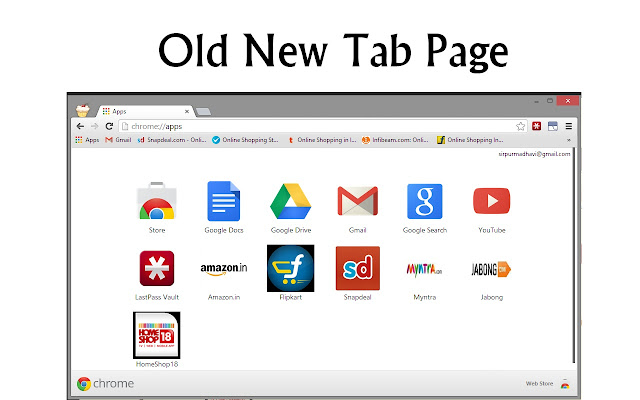 Old New Tab Page