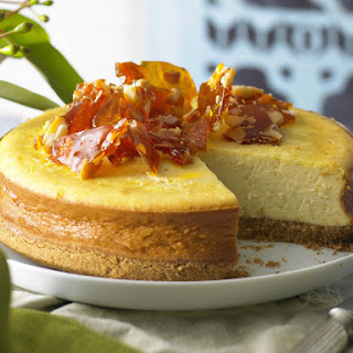 Citrus Cheesecake with Macadamia Praline