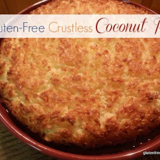 Crustless Coconut Pie.