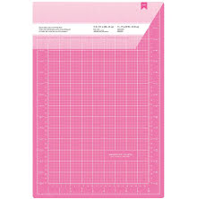 American Crafts Pink Double-Sided Self-Healing Cutting Mat 11X17