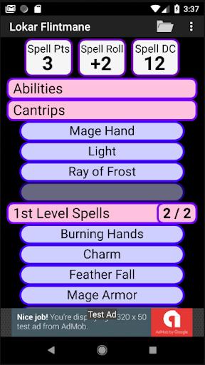 Second Edition Character Sheet 0.97f screenshots 4