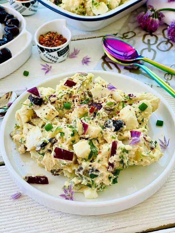 This Healthy Potato Salad Recipe Packed With Flavour And Beautiful Textures Makes Such A Great Gluten-free And Vegetarian Recipe. I'm A Huge Fan Of Wholesomeness And Eating As Wholesome As Possible Is The Key To A Successful Healthy Lifestyle.