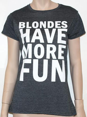 Dam Topp - Blondes Have More Fun - Grå