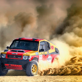 Jhal Magsi Desert Challenge 2012 by Abdul Rehman - Sports & Fitness Motorsports ( canon, sand, thrill, pakistan, mitsubishi, adventure, desert, dust, dangerous, dusty, baluchistan,  )