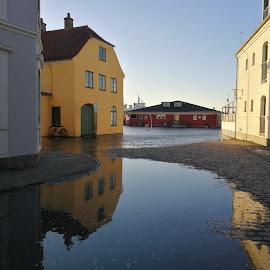 High Water,  on the street by Karl Erik Straarup - City,  Street & Park  Street Scenes