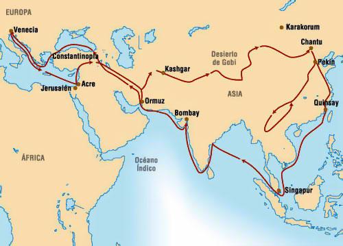 Resultado de imagen para viajes de marco polo en el siglo xiii