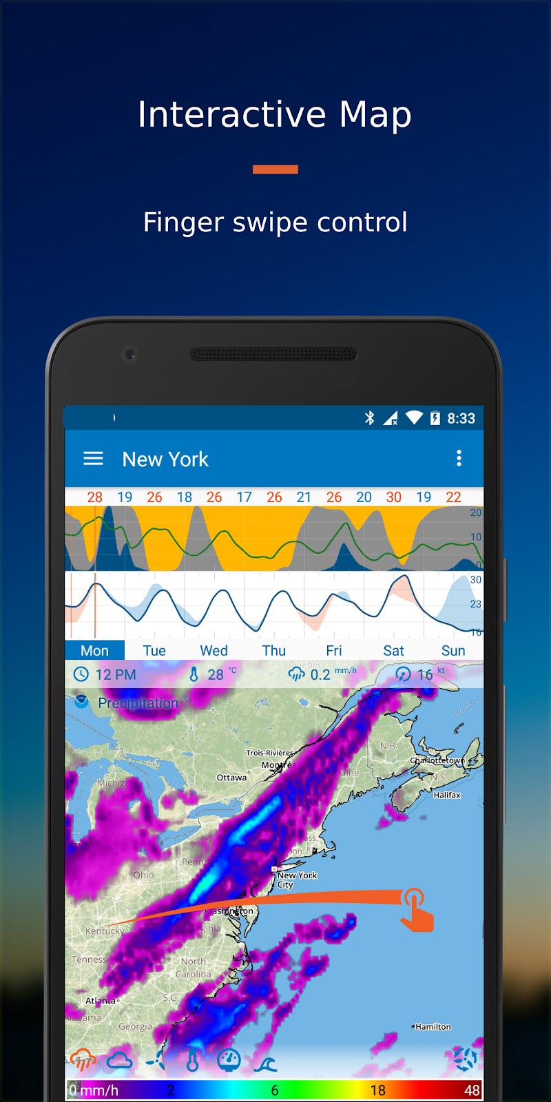 Flowx: Weather Map Forecast Screenshot 0