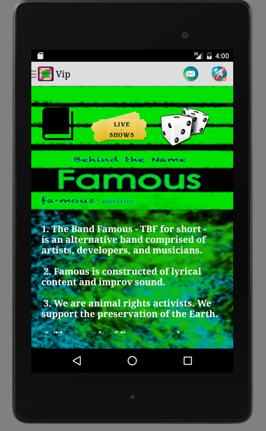 The Band Famous- screenshot