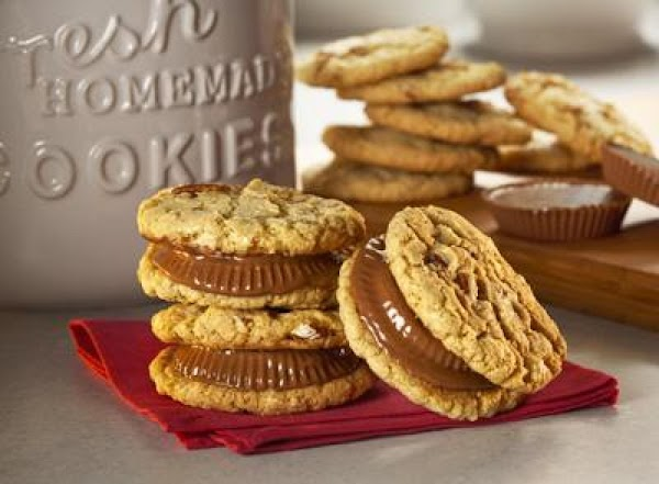 Reese's Peanut Butter Cup Sandwich Cookies Recipe
