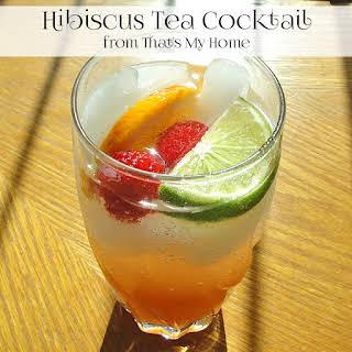 Hibiscus Tea Cocktails.