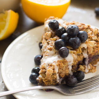 Vegan Lemon Blueberry Coffee Cake.