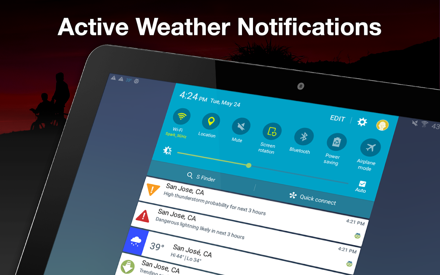 Weather by WeatherBug- screenshot