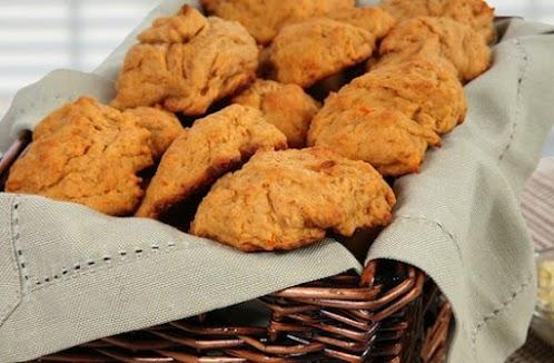 Soft Vegan Sweet Potato Dinner Biscuits