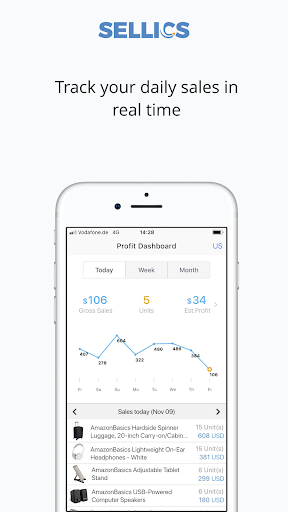 Sellics: Profit Tracker for Amazon Sellers 1.0.5 screenshots 1