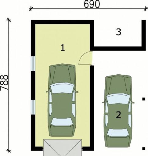 G31 - Rzut garażu