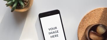 Tabletop Phone Mockup - Facebook Template