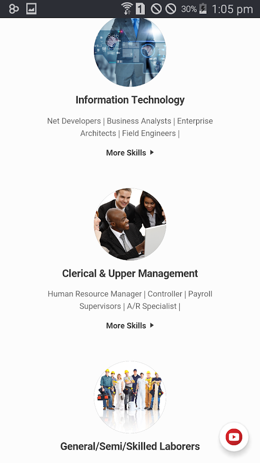 RHired Staffing- screenshot