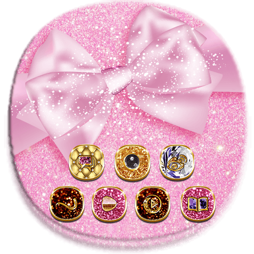 Pink Shining Cute Bow Theme