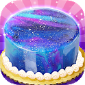 Galaxy Mirror Glaze Cake - Sweet Desserts Maker icon