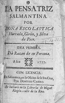 Titelblatt La Pensatriz Salmantina