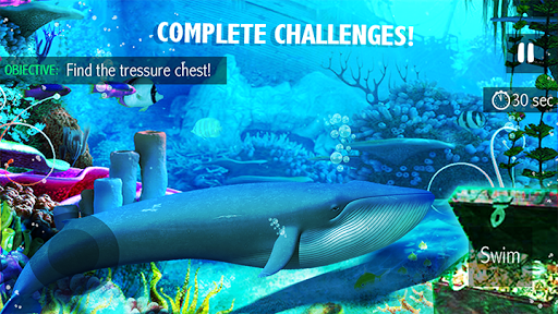 Blue Whale Simulator - Deep Ocean Adventure  screenshots 1