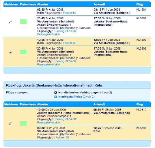 KLM nach Bali