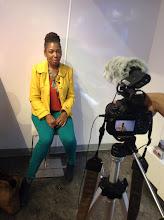 Photo: Yoli getting interviewed!