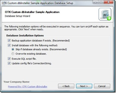 DatabaseInstallationOptions