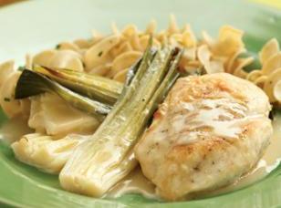 Chicken With Creamy-dreamy Braised Leeks Recipe