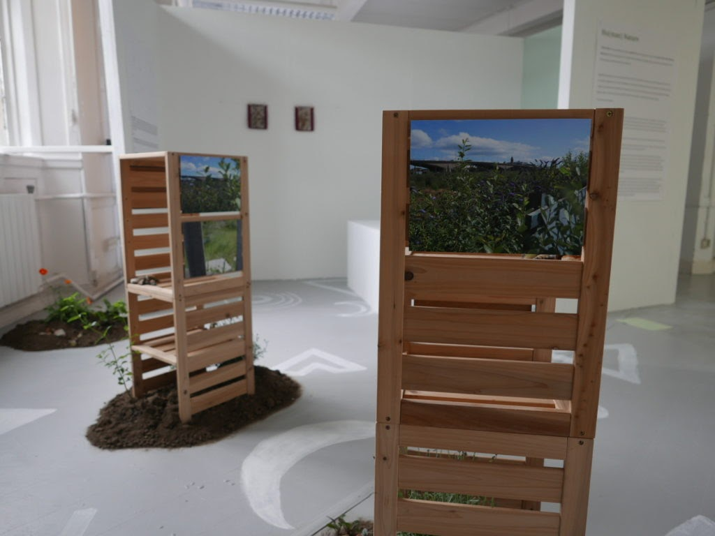 Image of the installation of the Reclamation photographs
