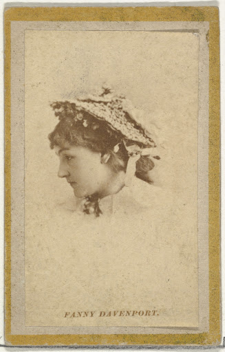 Fanny Davenport, from the Actresses and Celebrities series (N60, Type 2) promoting Little Beauties Cigarettes for Allen & Ginter brand tobacco products