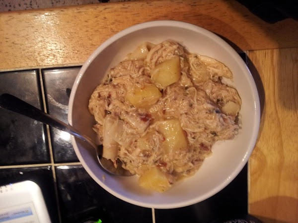 Chipotle Chicken With Dumpling Noodles & Potatoes Recipe