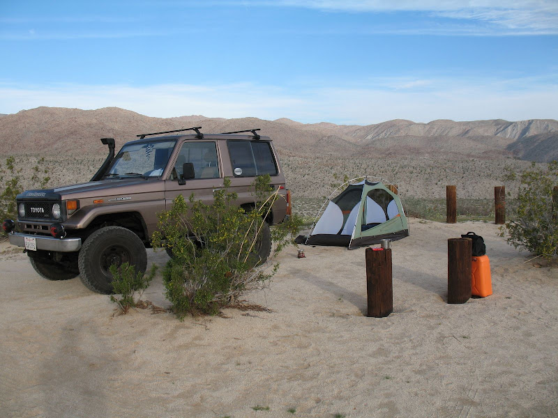 Anza Borrego Egg Mountain Camp Site