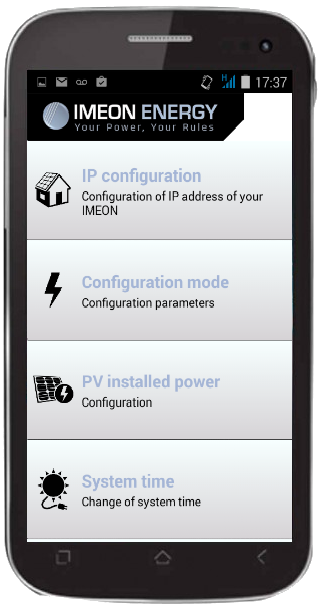 IMEON MANAGER APP for 3.6- screenshot