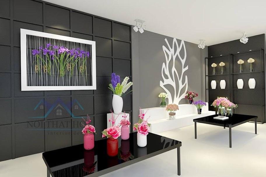 thiết kế cửa hàng hoa phong cách châu âu