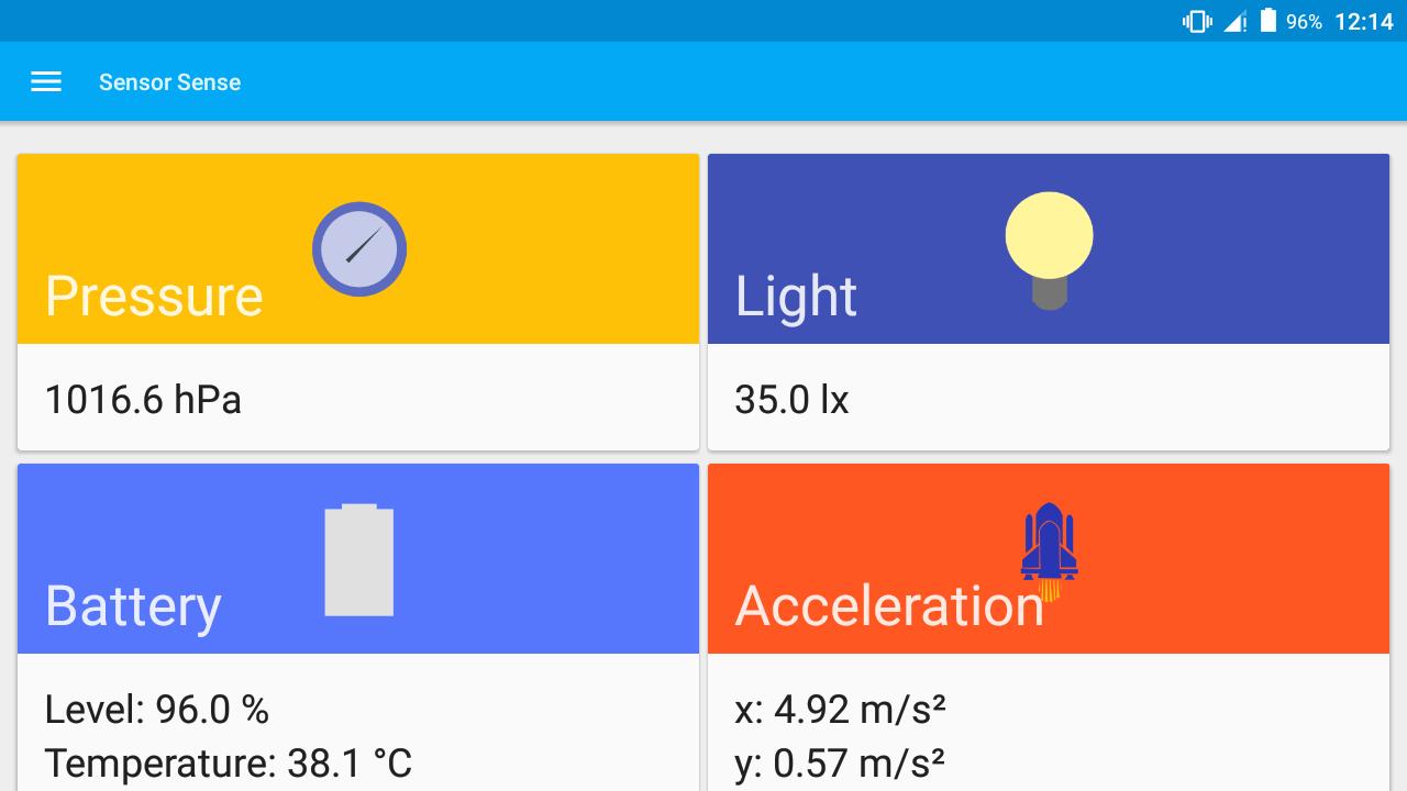Sensor Sense (sensors) - screenshot