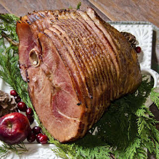Ham With Beer and Brown Sugar Glaze.