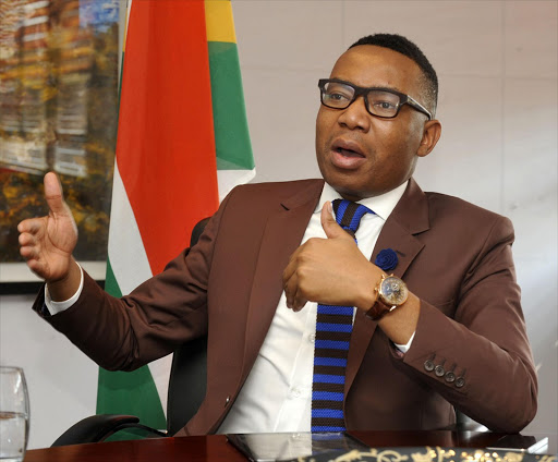 Mduduzi Manana, Deputy Minister of Higher Education and Training in Pretoria. Pic: Freddy Mavunda. © Financial Mail