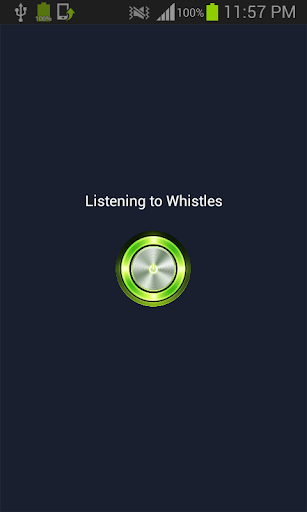 Flash on whistle