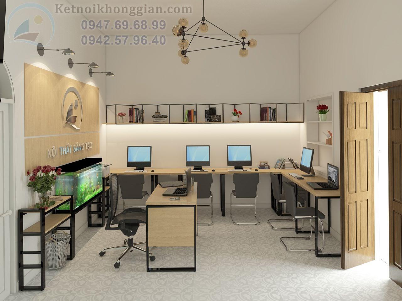 thiết kế văn phòng công ty phong cách trẻ trung