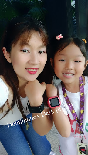 Tiger girl and me with our smart watches