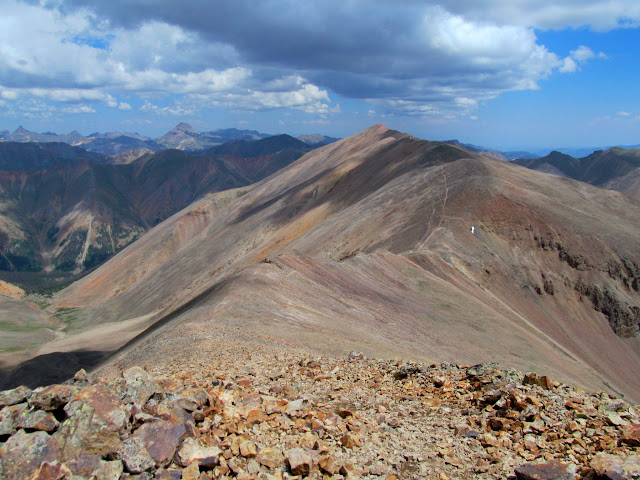 On top of Sunshine, looking north at Redcloud
