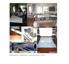 Photo: Tiefdruckpresse / Radierpresse Druckformat 85 cm x 170cm /  tecnica dell'acquaforte e puntasecca / Etching