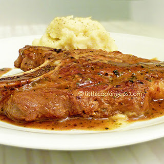 Juicy Pork Steaks with Wine and Honey Recipe