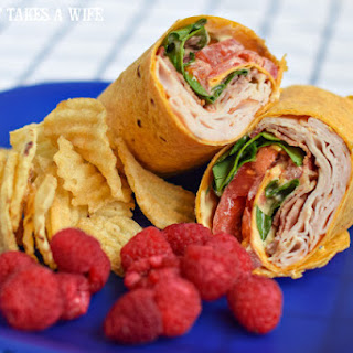 Turkey Bacon Club Wrap featuring Hidden Valley Ranch Avocado Dressing