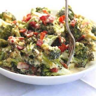Roasted Broccoli & Bacon Alfredo.